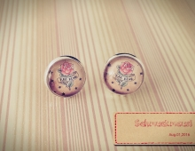 Tattoo Red Rose Cabochons